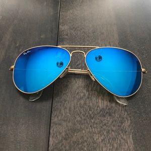 Ray Ban Blue Reflecting Sunglasses